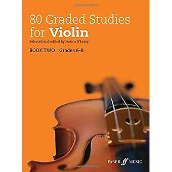 80 graderad studier för Violin bok 2 (graderad studier)
