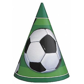 SALE -  8 Party Hats - Football Design | Kids Birthday Party Hats