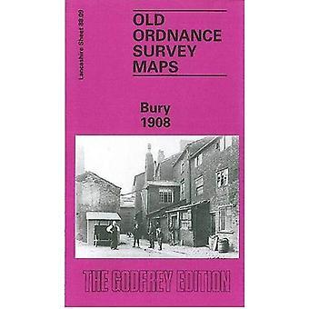 Bury (Old O.S. Maps of Lancashire) [Facsimile] [Folded Map]