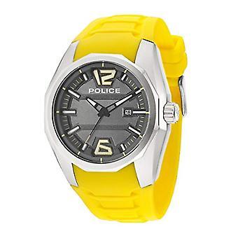 Polisen, Crown-Analog armbandsur, silikonband, gul