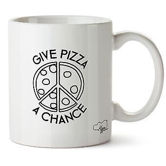 Hippowarehouse ge Pizza A chans tryckt mugg kopp keramik 10oz