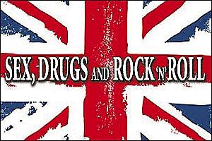 Sex Drugs Rock N Roll Union Flag fridge magnet (Cd)