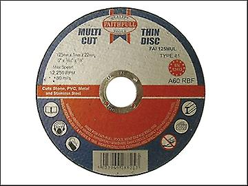 Faithfull Multi-Cut Thin Cut Off Wheel 125mm x 1.0 x 22 Pack of 10