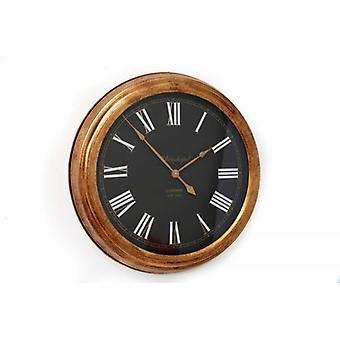 61cm rond métal or noir avec blanche détail tenture murale horloge