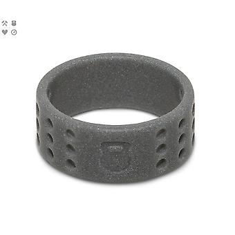 Qalo Mens Perforated Silicone Ring with Carrying Case - Smoke Gray