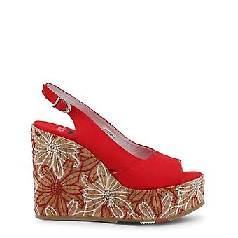 U.S. Polo Women Red Wedges -- GOLD187696