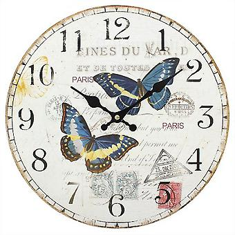Something Different 34cm Double Butterfly Clock