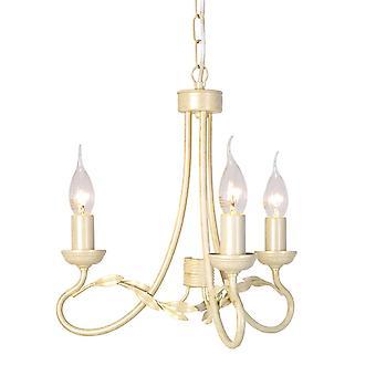 Elstead - Chandelier 3 Light Ivory, Gold Finish - OV3 IVORY/GOLD