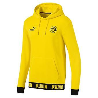 2019-2020 Borussia Dortmund Puma Football Culture Hoodie (Yellow)