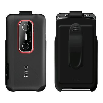 OEM HTC Hard Shell Case with Holster Combo for HTC EVO 3D - Black