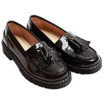 Petasil Clue Girls Loafer, Black Patent