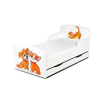 PriceRightHome gato e cão cama de criança com underbed armazenamento