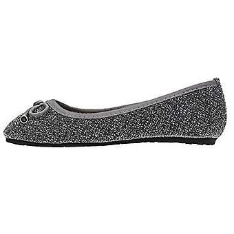 dELiA*s Girls Ballet Flats with Bow and Trimming Glitter Mesh