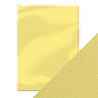 Craft Perfect A4 Weave Textured Card Buttermilk Yellow Tonic Studios