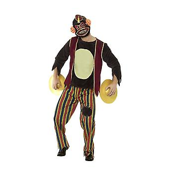 Mens Deluxe Clapping Monkey Toy Fancy Dress Costume Halloween