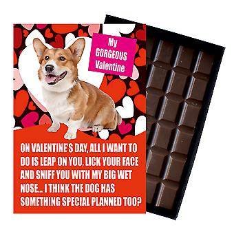 Walesiska Corgi gåva för alla hjärtans dag presenterar för hundälskare boxed choklad
