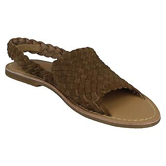 Leather Collection Womens/Ladies Slingback Sandals