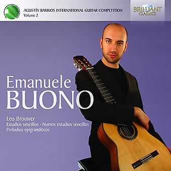 Leo Brouwer - Agust N Barrios International Guitar Competition, Vol. 2: Emanuele Buono [CD] USA import