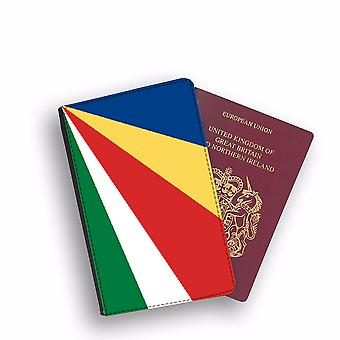 SEYCHELLES Flag Passport Holder Style Case Cover Protective Wallet Flags design