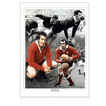 Gareth Edwards Signed Wales Rugby Photograph
