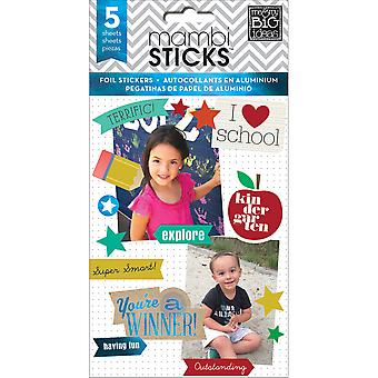 Me & My Big Ideas Pocket Pages Foil Stickers 6 Sheets/Pkg -I Heart School PPS-38