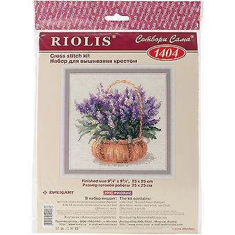 French Lavender Counted Cross Stitch Kit-9.75