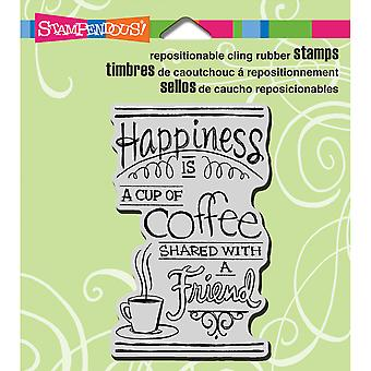 Stampendous Cling Rubber Stamp Shared Coffee Crm308