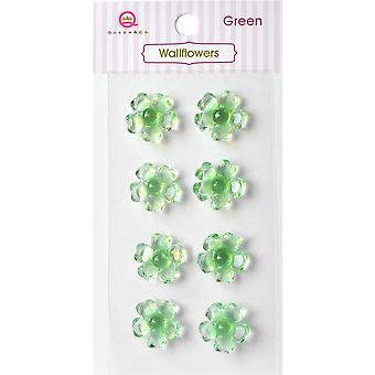 Queen & Co Wallflowers 16mm Self-Adhesive 8/Pkg-Green WF-546