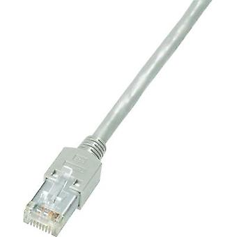 RJ49 Networks Cable CAT 5e S/UTP 5 m Grey Flame-retardant, incl. detent Dätwyler