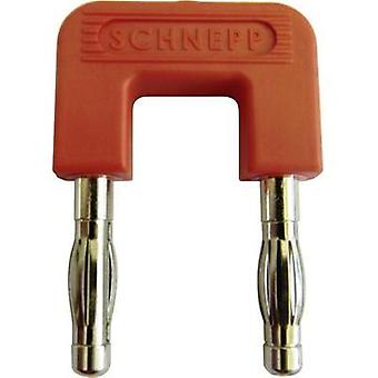 Shorting plug Red Pin diameter: 4 mm Dot pitch: 19 mm Schnepp 19/4rt 1 pc(s)