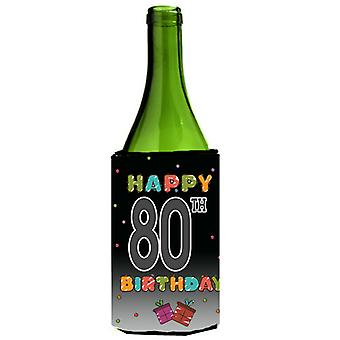 Happy 80th Birthday Wine Bottle Beverage Insulator Hugger CJ1127LITERK