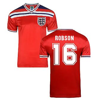 Score Draw Angleterre World Cup 1982 maillot (Robson, 16)