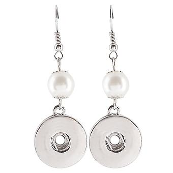 Stainless steel earrings for click buttons