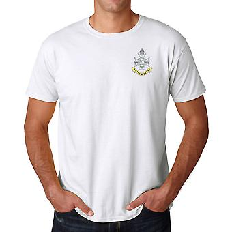 The Sherwood Foresters Embroidered Logo - Official British Army Ringspun T Shirt