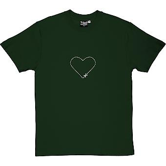 T-shirt uomo cuore Cut-Out