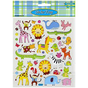 Multicolored Stickers-Animal Menagerie SK129MC-4237