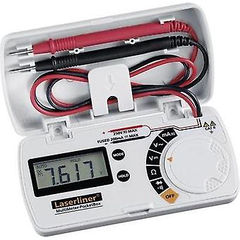 Håndholdt multimeter digital Laserliner MultiMeter lomme for katten II 250 V skjerm (teller): 3.5