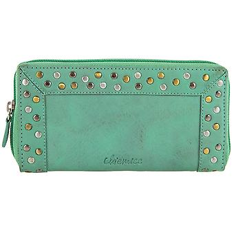 Chiemsee rivet zipper leather purse wallet 64060