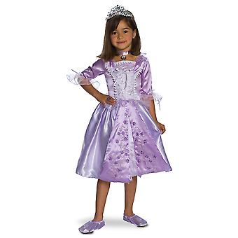 Lavender Rosebud Princess Purple Rapunzel Sophia Girls Costume
