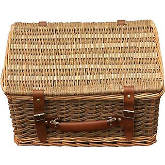 45cm Double Steamed Green Willow Empty Picnic Basket