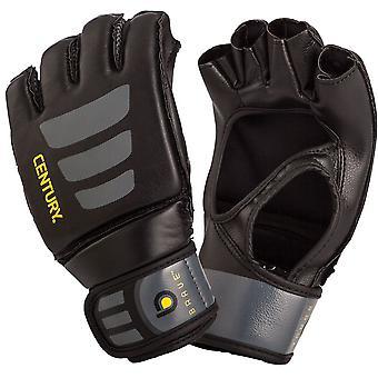 Siglo valiente Palma abierta MMA entrenamiento bolsa de guantes - negro/gris