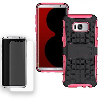 Hybrid case bag 2 piece SWL Pink for Samsung Galaxy S8 plus G955 G955F + tank slide