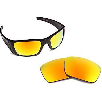New SEEK Replacement Lenses for Oakley FUEL CELL Red Yellow Mirror