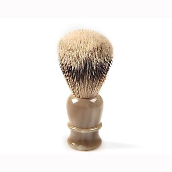 Shaving brush hand-tied, hand-filled, genuine blond horn handle Direct from France
