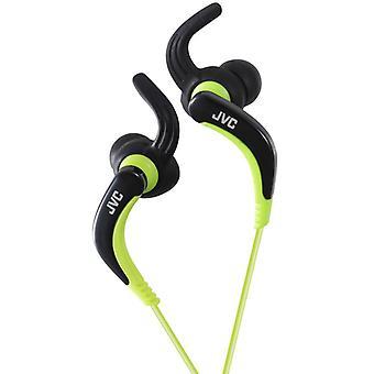 JVC sports-in-ear hovedtelefon med øre fiksering - sort-grøn