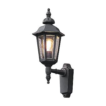 Konstsmide Pallas Powdered Black Up Facing External Wall Light