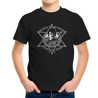 Sort stjerne Ninja Ninjutsu Dojo amerikansk Ninja Kid's T-Shirt