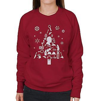 Juletræ Sherlock Holmes kvinders Sweatshirt