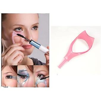 Boolavard 3 in 1 Mascara Eyelash Brush Curler Aid Clip Lash Comb Cosmetic
