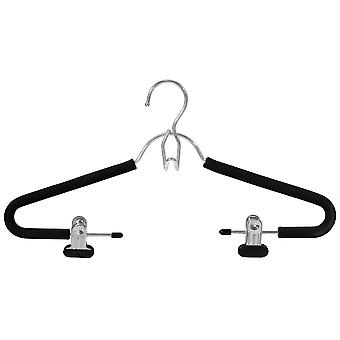 Closet Spice Chrome Suit Hanger with Clips - Set of 3